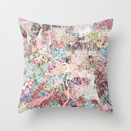 Toulouse map Throw Pillow