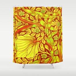 William Morris Cinnabar Forget Me Not Floral Art Nouveau Shower Curtain
