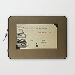A typewriter and a library catalogue card 1 Laptop Sleeve