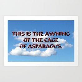 Cage of Asparagus Art Print