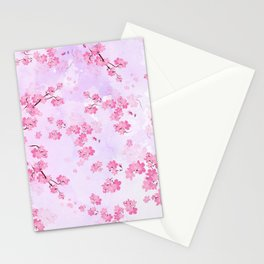 Cherry Flower Stationery Cards