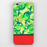 camo iPhone & iPod Skins featuring Camo by Ryan Ingram