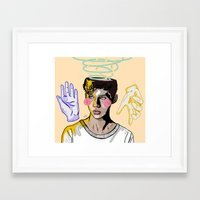 into the wild Framed Art Prints featuring WILD by FoxyFries