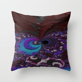Hoarse Hallow Fractal - Abstract Art Throw Pillow