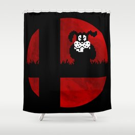 Smash and Laugh (red) Shower Curtain