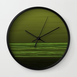 Horizon (olive green) Wall Clock