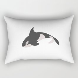 Killer Whale. Poster for children. Animals. Poster with animals. Rectangular Pillow