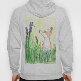 Fox with Butterflies Hoody