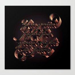 Typographic poster Canvas Print