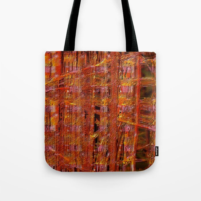abstract  ~ rust imprint Tote Bag