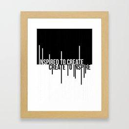 Create to Inspire Framed Art Print
