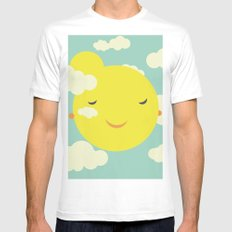sunshine in clouds MEDIUM White Mens Fitted Tee