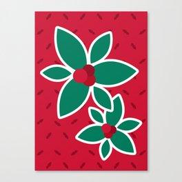 Warm Winter Leaf Canvas Print