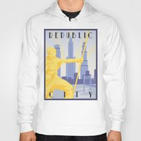 airbender Hoodies featuring Republic City Travel Poster by HenryConradTaylor