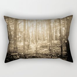 Vintage Sepia Fairy Forest Rectangular Pillow