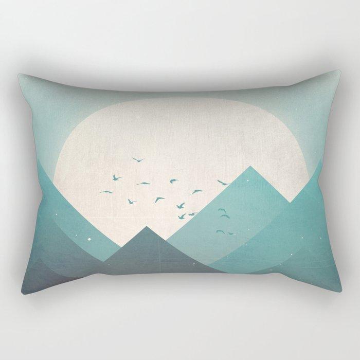 Ice Lands Rectangular Pillow