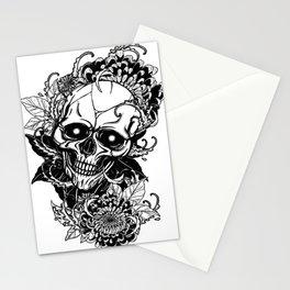 Skull wreath, custom gift design Stationery Cards