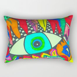 I see Color Rectangular Pillow