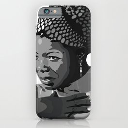 Maya Angelou 2.0 iPhone Case