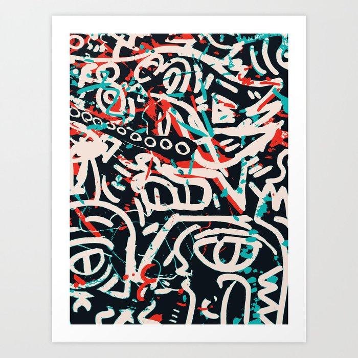 Street Art Pattern Graffiti Post Kunstdrucke