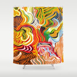 colored flow Shower Curtain