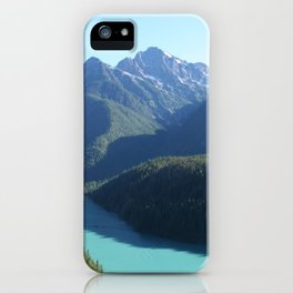 Mountains Over Turquoise Lake iPhone Case