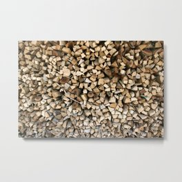 Chopped wood Metal Print