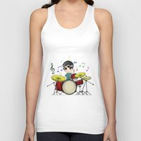 chibi Tank Tops featuring Chibi Drummer by Jelo