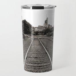 Railroad Tracks Travel Mug