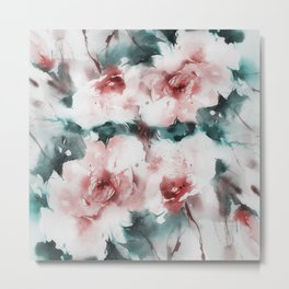 Liquid rose Metal Print