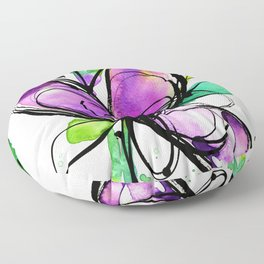 Ecstasy Bloom 10 by Kathy Morton Stanion Floor Pillow