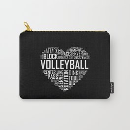 Love Volleyball Heart Carry-All Pouch