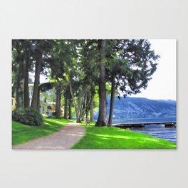Cultas Lake - Main Beach Canvas Print