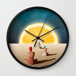 Desert Moonlight Meditation Wall Clock