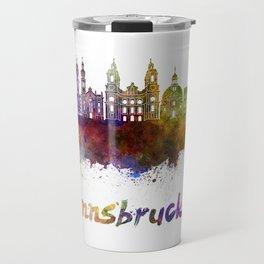 Innsbruck skyline in watercolor Travel Mug