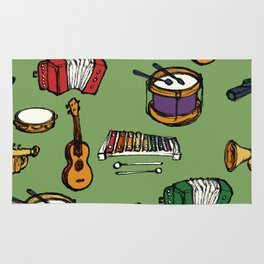 Toy Instruments on Green Rug