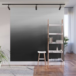 Black & White Ombre Gradient Wall Mural