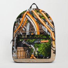Orange Bicycle Backpack