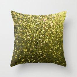 Mosaic Sparkley Texture Gold G188 Throw Pillow