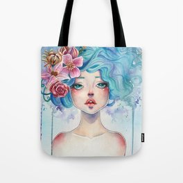 Blue Hair Tote Bag