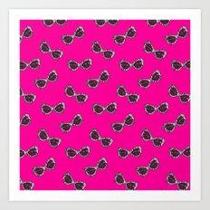 Diva Sunglasses-Pink Art Print