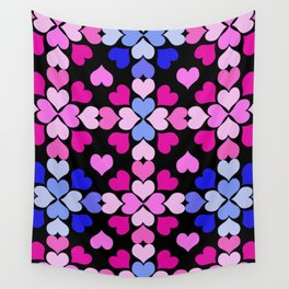 Raspberry Heart Quilt Wall Tapestry