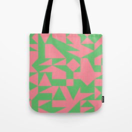 English Square (Pink & Green) Tote Bag