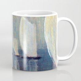 Sailboats on Mirrored Glass Seas nautical landscape by Mikalojus Konstantinas Ciurlionis Coffee Mug