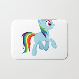 I Poop Rainbows Bath Mat