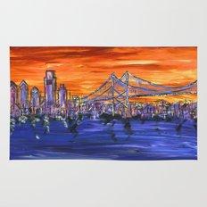 Ben Franklin Bridge Sunset Rug
