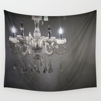 chandelier Wall Tapestries featuring chandelier in NYC by JunhwanPaul