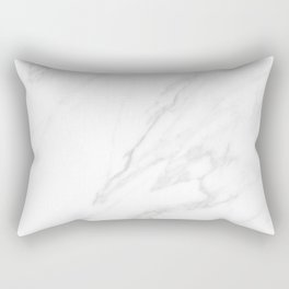 Classic White Marble Rectangular Pillow
