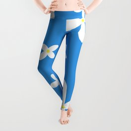 Classic Blue and White Flowers Leggings