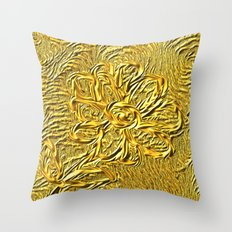 embossed floral Throw Pillow